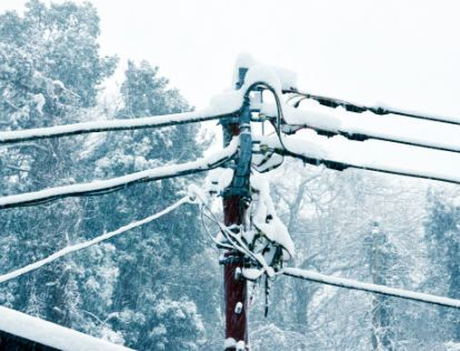Snowy electrical lines